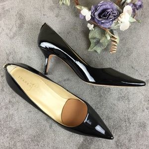 Ivanka Trump Black Patent Leather Heels Size 9N